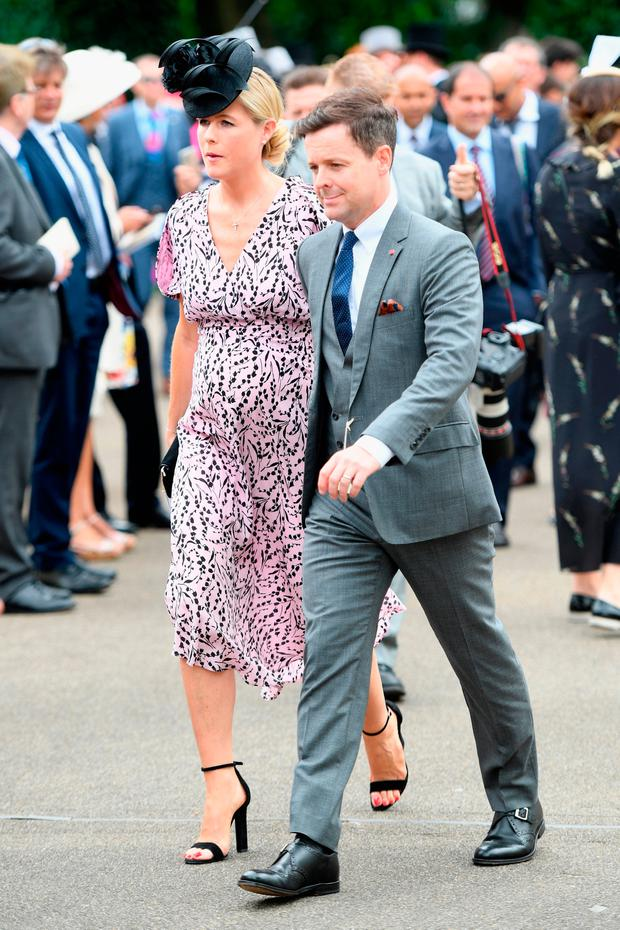 Declan Donnelly (R) and Ali Astall (L) attend day 1 of Royal Ascot at Ascot Racecourse on June 19, 2018 in Ascot, England. (Photo by Stuart C. Wilson/Getty Images for Ascot Racecourse )