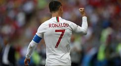 Cristiano Ronaldo scored his fourth goal of the World Cup in the victory against Morocco (Francisco Seco/AP/PA)