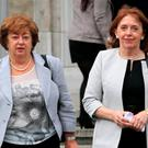 Catherine Murphy, left, and Róisín Shortall withdrew over the gender imbalance. Photo: Gareth Chaney