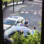 Gardai arresting the suspect