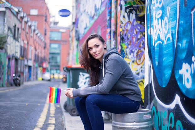 Wear it's at: Shauna Keogh's new clothing range, 5428 was inspired by being proud of her sexuality. Photo: Eduardo Nogueira