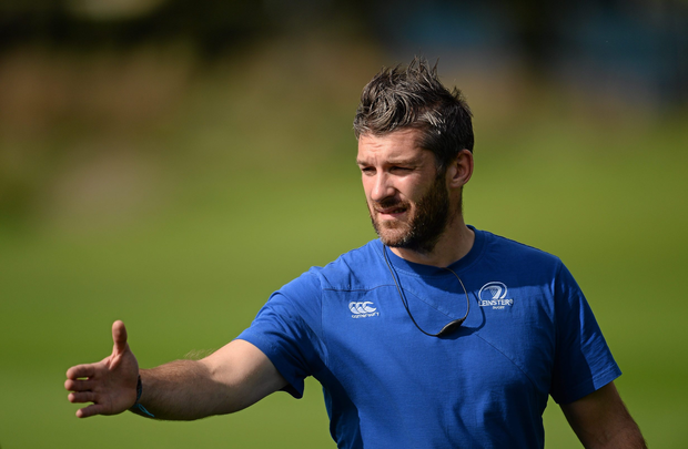 Greg McWilliams, pictured coaching Leinster U19, is now the attack coach with the USA Eagles. Picture credit: Stephen McCarthy / SPORTSFILE