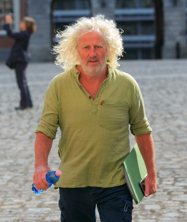 Mick Wallace TD at the Disclosures Tribunal in Dublin Castle, Dublin. Photo: Gareth Chaney Collins
