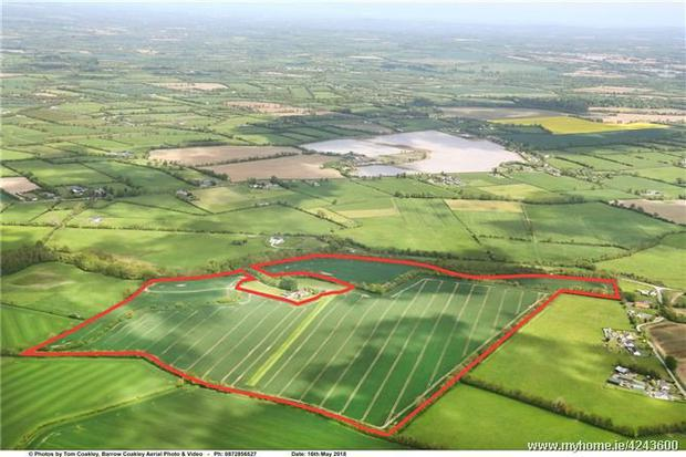 The 97ac holding is located at Adamstown near Trim and is guided at €10,000 per acre