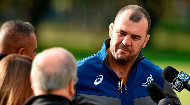 Michael Cheika wants Wallabies to tackle Ireland's 'rolling in the way' and 'blocking' in series decider