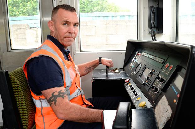 Driver Eric Rooney has experienced anti-social behaviour on the train lately. Photo: Justin Farrelly