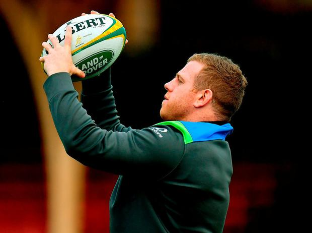Sean Cronin in training ahead of tomorrow's third and final Test against Australia. Photo: Brendan Moran/Sportsfile