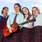Christine Anzano, Jassyl Rodriguez , Lauren Carey, Sarah Condon and Ellen Carroll after their LC Music exam at St Wolstan's Community School, Celbridge, Co Kildare. Photo: Mark Condren