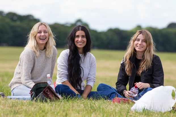 Morgan Rich, Nicole Darabi and Kimberley Oetegenn, all from California, at the Phoenix Park. Photo: Colin O'Riordan