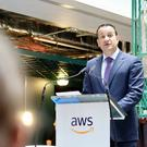 Taoiseach Leo Varadkar at the announcement of 1,000 new jobs at Amazon
