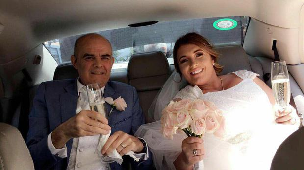 Patrick Murphy (52) was diagnosed with throat cancer in October 2017. The couple have been together for 17 years and finally tied the knot on Thursday June 14.