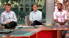 Roy Keane, Martin O'Neill and Patrice Evra were a lively panel on ITV's coverage of Brazil v Costa Rica
