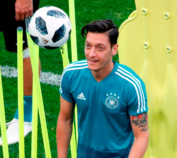 Mesut Ozil has been under fire after Germany's defeat to Mexico but looks set to keep his place against Sweden. Photo: Francois Lenoir/Reuters