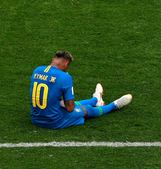 Neymar celebrates Brazil's victory after the match against Costa Rica. Photo: Lee Smith/Reuters