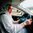 Dr Samira al-Ghamdi practises her driving ahead of Sunday. Photo: Zohra Bensemra/Reuters