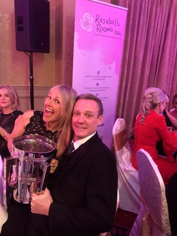 Jimmy, after his liver transplant, with Sharon at the Mayor's Ball a few weeks ago in Galway