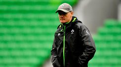15 June 2018; Head coach Joe Schmidt during the Ireland rugby squad captain's run in AMMI Park in Melbourne, Australia. Photo by Brendan Moran/Sportsfile