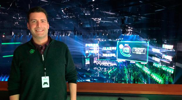 Mike Ybarra, corporate vice-president of gaming at Microsoft, at E3 2018 in LA. Photo: Ronan Price