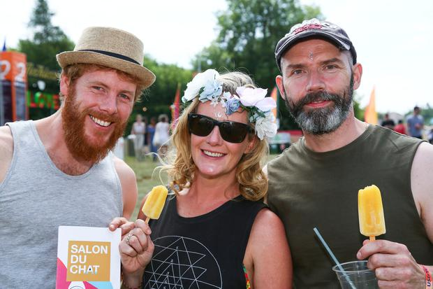Ollie Kenny, Cork, Vanecia Prenderville, Kerry and Gerard O'Connor, Carlow pictured at The Body and Soul Festival at Clonmellon, Co. Westmeath Photo: Colin O'Riordan