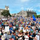 SECOND CHANCE? Crowds arrive in Parliament Square in central London, during the People's Vote march for a second EU referendum. Photo: John Stillwell/PA
