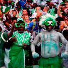 Nigeria's fans celebrate their victory over Iceland. Photo: Getty Images