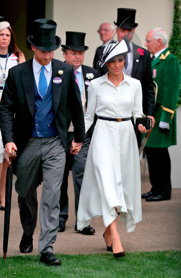 STYLISH: Meghan, Duchess of Sussex, at Royal Ascot last week. Picture: PA