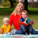 Sophie White and her children, Rufus (4) and Arlo (1), both book lovers. Photo; Damien Eagers