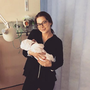 Helen Flanagan with her new baby girl Delilah. Photo: Instagram