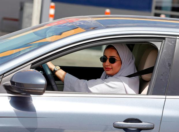 Zuhoor Assiri drives her car in Dhahran, Saudi Arabia, June 24, 2018. REUTERS/Hamad I Mohammed