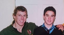 David Pocock (left) and Conor Murray (right) back in 2005.