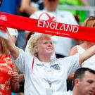 Soccer Football - World Cup - Group G - England vs Panama - Nizhny Novgorod Stadium, Nizhny Novgorod, Russia - June 24, 2018 England fan inside the stadium before the match REUTERS/Matthew Childs