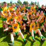 24 June 2018; The Donegal team celebrate with the Anglo Celt Cup after the Ulster GAA Football Senior Championship Final match between Donegal and Fermanagh at St Tiernach's Park in Clones, Monaghan. Photo by Oliver McVeigh/Sportsfile