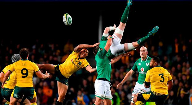 Wallabies point finger at lift as Folau cited
