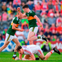 Class: Kerry's Paul Geaney celebrates after scoring his side's third goal in Saturday's Munster final