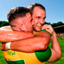 Champions: Donegal's Patrick McBrearty and Michael Murphy celebrate