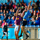 Paddy Smyth of Dublin in action against Rory O'Connor of Wexford. Photo by David Fitzgerald/Sportsfile