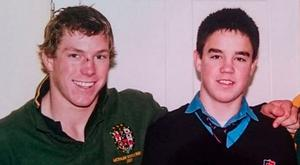 The photo tweeted by David Pocock that recalls his schoolboy rugby links with Conor Murray