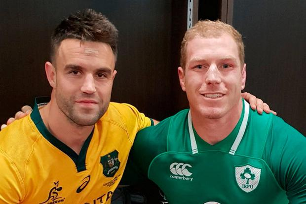 David Pocock and Conor Murray together before Saturday's match