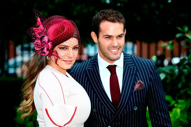 Kelly Brook and Jeremy Parisi during day five of Royal Ascot at Ascot Racecourse