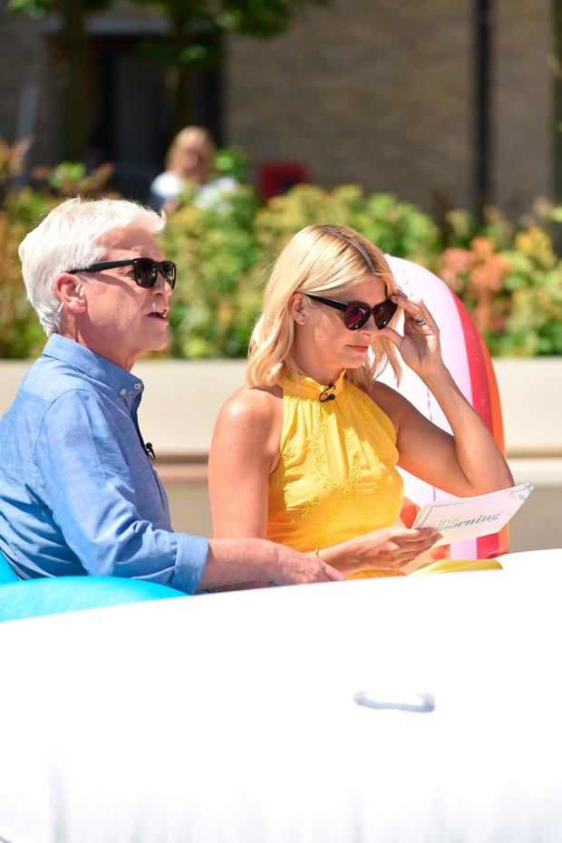 Holly Willoughby and Phillip Schofield are seen at the ITV Studios on June 25, 2018 in London, England. (Photo by HGL/GC Images)
