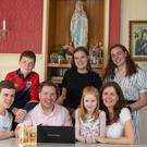 Tom & Teresa Treacy with their kids Patrick (15), Shane (13), Aileen (19), Susie (17) & Annemarie (7). Picture by Fergal Phillips.