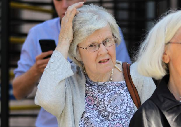 Margaret Fagan, of Brompton Lawn, Castleknock, Dublin pictured leaving the Four Courts after a Circuit Civil Court action. Pic: Collins Courts