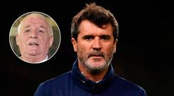 Roy Keane and Eamon Dunphy (inset)