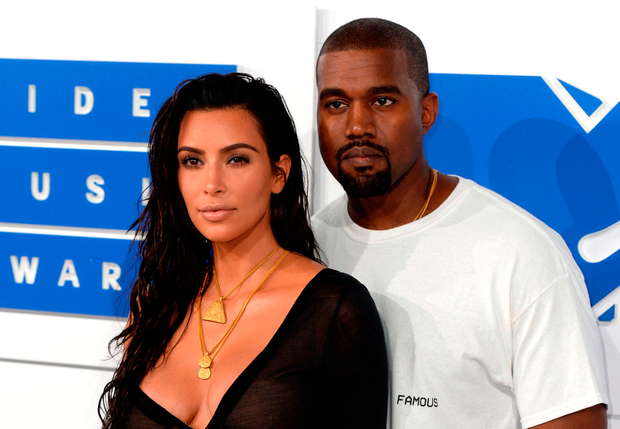 Kim Kardashian West stuck by her rapper husband Kanye. Photo: PA Wire