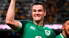 While Joe Schmidt has developed squad options, Ireland would still struggle to replace Johnny Sexton. Photo: Sportsfile