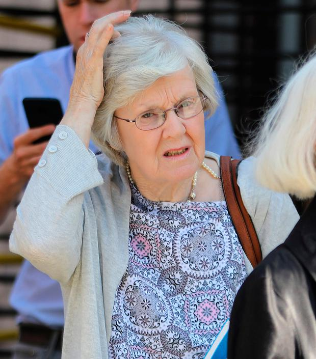 Margaret Fagan leaves the Four Courts yesterday. Photo: Collins Courts