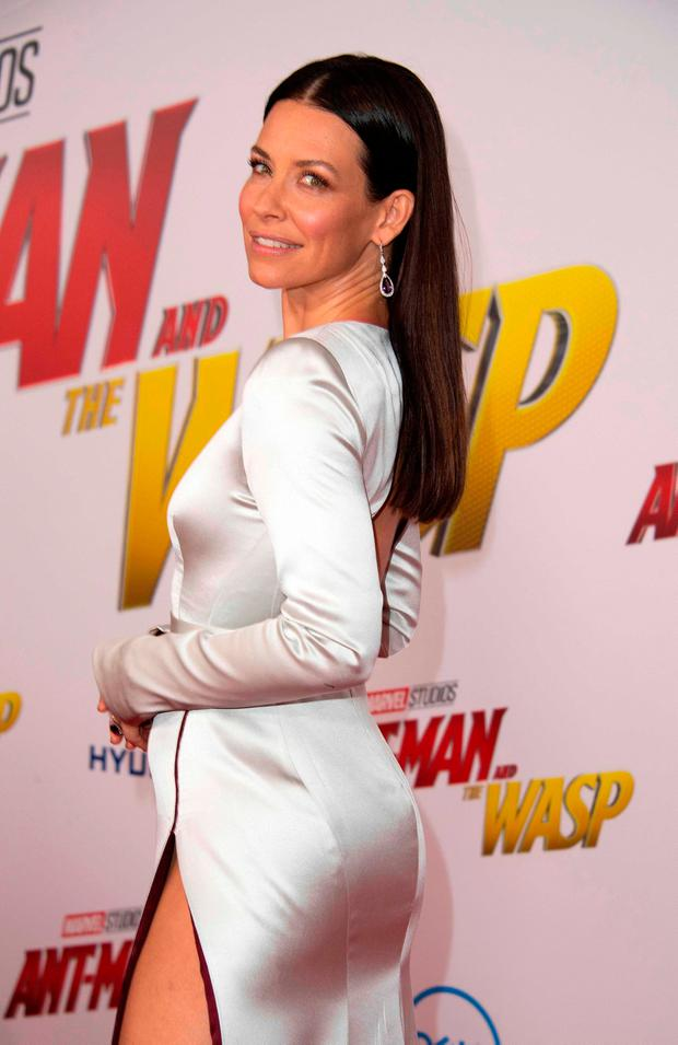US actress Evangeline Lilly attends the World Premiere of Marvel Studios'