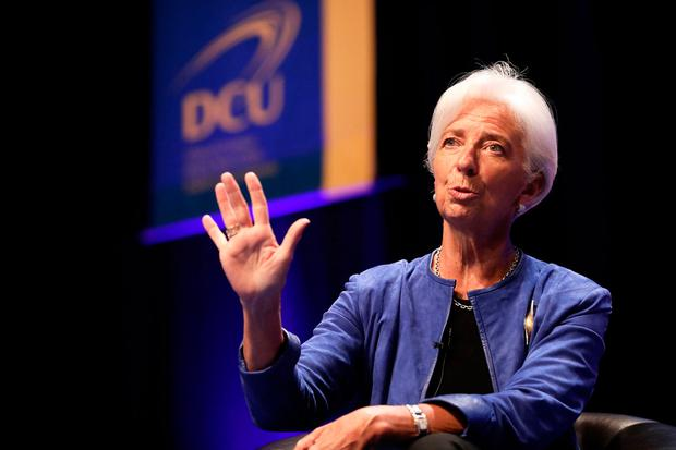 Pictured at Dublin City University today; Madame Christine Lagarde, Managing Director of the International Monetary Fund (IMF) JULIEN BEHAL PHOTOGRAPHY
