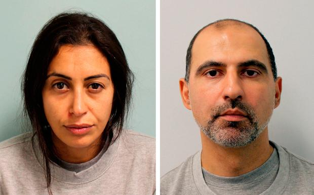 Sabrina Kouider and Ouissem Medouni killed their nanny, who they said was in league with an ex-Boyzone member. Picture: PA