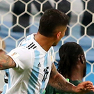 Marcos Rojo fires home the winner for Argentina. Photo: Getty Images